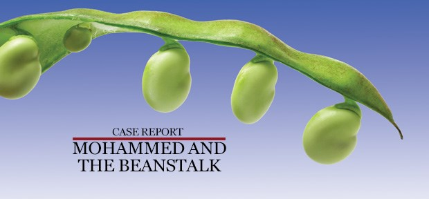 Case Report: Mohammed and the beanstalk